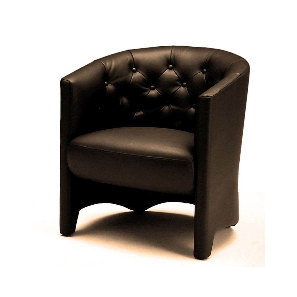 fauteuil cuir art deco swann. Black Bedroom Furniture Sets. Home Design Ideas