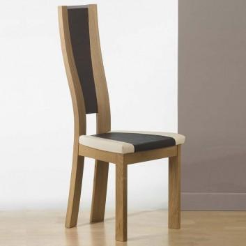 Chaise bois art deco