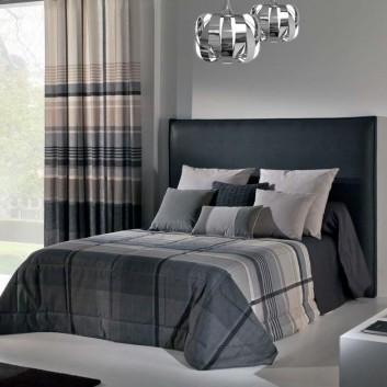 michel viaud grey madras padded bedspread. Black Bedroom Furniture Sets. Home Design Ideas