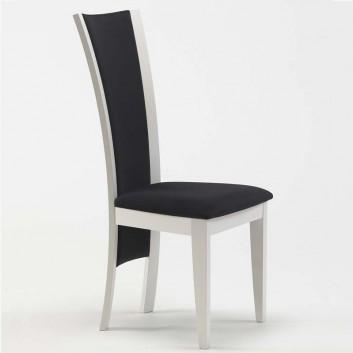 Chaise en bois laqué