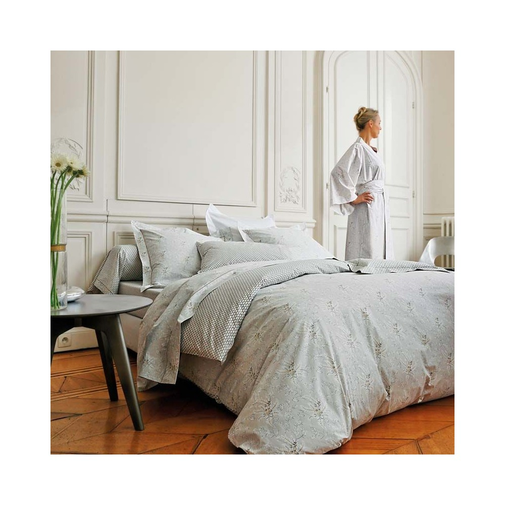 parure percale blanc des vosges. Black Bedroom Furniture Sets. Home Design Ideas