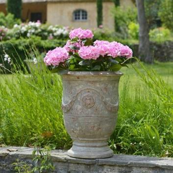 Vase Anduze patine grise