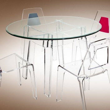 TABLE Verre Acrylique