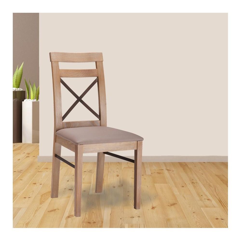 cette chaise contemporaine est en chne massif - Chaise Chene
