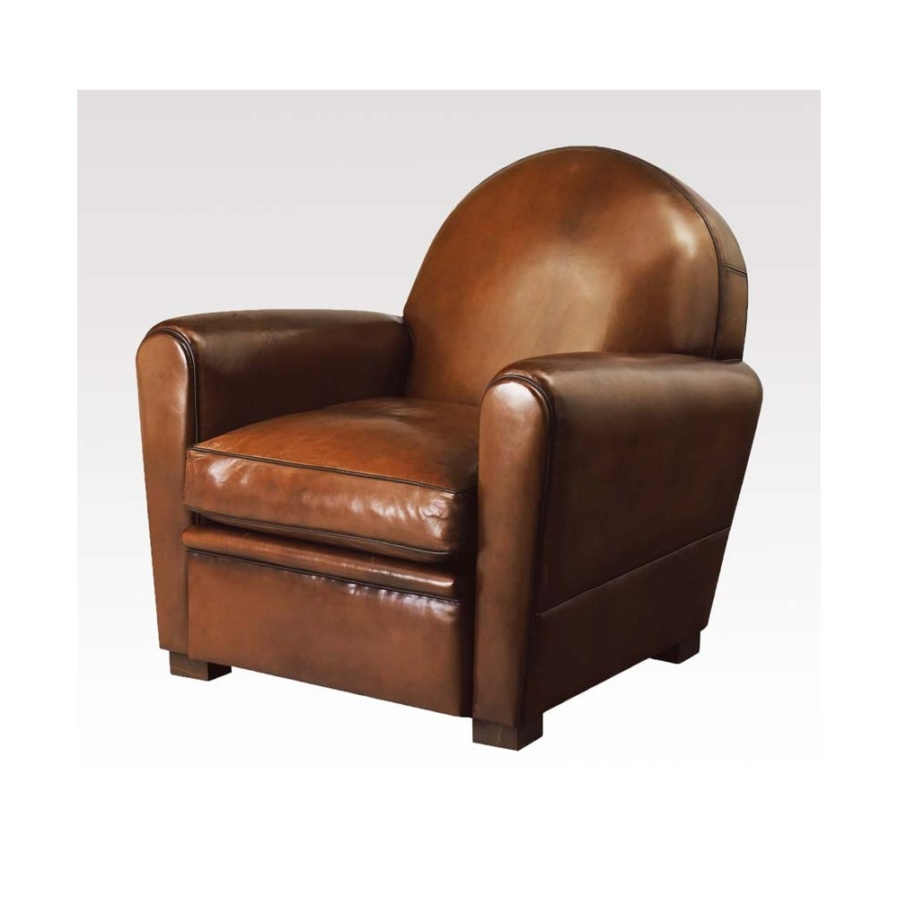 fauteuil club en cuir. Black Bedroom Furniture Sets. Home Design Ideas
